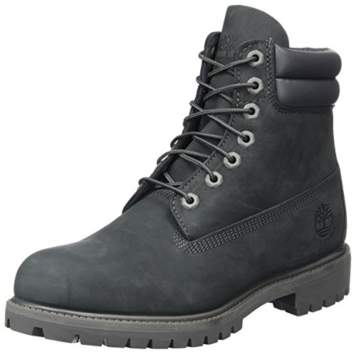 Timberland 6 inch Double Collar Waterproof, Bottes Homme, Gris (Forged Iron), 42 EU