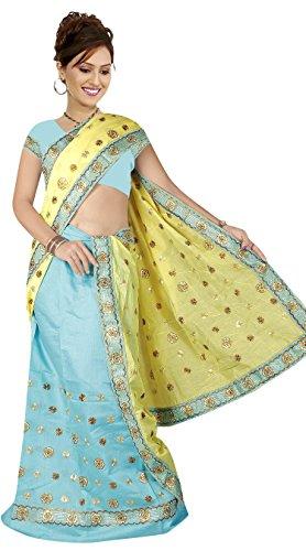 """Assamese Mekhela Chadar """"SONU""""(YELLOW-BLUE)"""