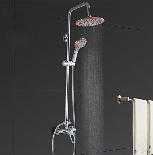 Preisvergleich Produktbild BLYC- Solide Messing Wandhalterung Badezimmer Luxus-Regenmischer Dusche Kombi-Multifunktions-Duschsystem, Chrom poliert
