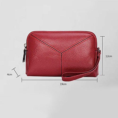 b2be71d6092c7 ... Kleine handtasche Damen Multi-Funktions-Handy Geldbörse Handtasche Mode  einfach Stil 2018 Neu Rot