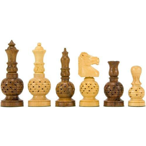 Mogul Fretwork Carved Chessmen