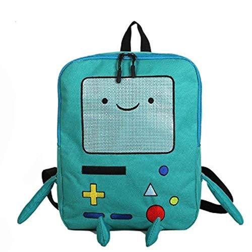 PLLP Student Rucksack, Neuheit Tasche-Cute Cartoon Cute Adventure Time Rucksäcke Lustige Persönlichkeit Stereo Student Bag Große Kapazität Reisetasche,ein -