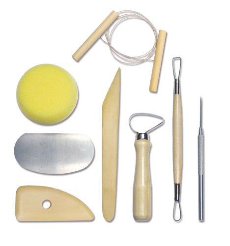 Royal & Langnickel RSET-POT1 - Kompletes Töpferwerkzeug Set, 8-teilig