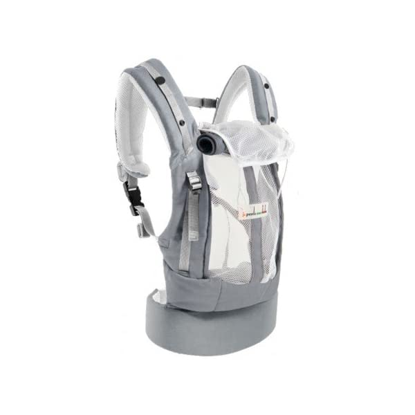 """Je Porte Mon Bébé The physiocarrier jpmbb Elephant Je Porte Mon Bébé thermo-ventilation 4Seasons, """"which zip Seat of the baby from birth with the physiological Booster expansion pack * (* option: Booster Seat and Head Support Cushion) Belt and comfortable wide shoulder straps and respirâtes 2"""