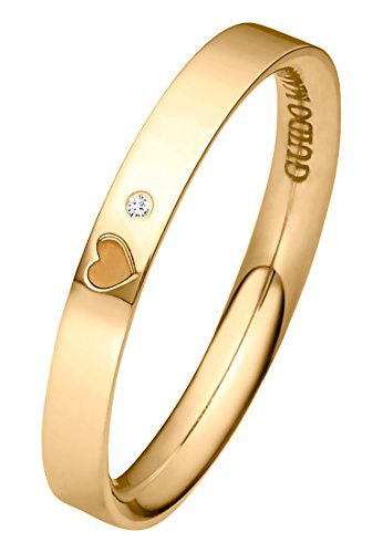 Guido Maria Kretschmer Damen-Ring 375er Gelbgold 1 Diamant ca. 0,01 ct. gold, 50 (15.9)