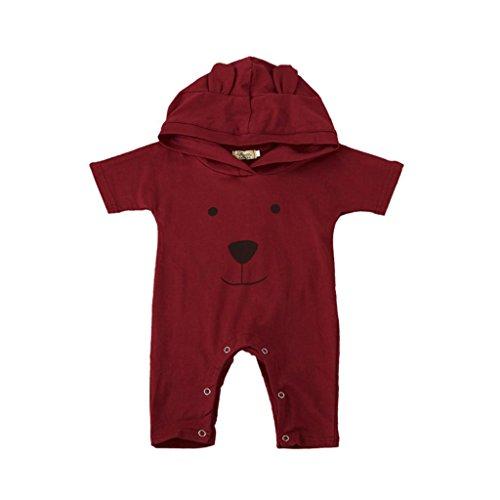 Hirolan Kinder Baby Kleider Junge Mädchen Bär Mit Kapuze Spielanzug Overall Kleinkind Säugling Outfits (70CM, (Disco 70's Roller Kostüm)