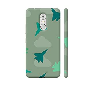 Colorpur Green Fighter Planes Pattern Artwork On Lenovo K6 Note Cover (Designer Mobile Back Case) | Artist: Astha
