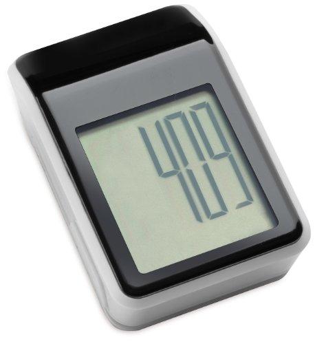 REFLECTS Schrittzähler LA OROTARA, Schwarz/Weiß, tragbarer Kalorienmesser, LCD Display, Schrittmesser mit Kilometeranzeige, zum Wandern und für den Sport, schwarze Blende