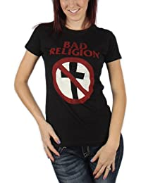 Bad Religion - Womens Distressed Crossbuster T-Shirt