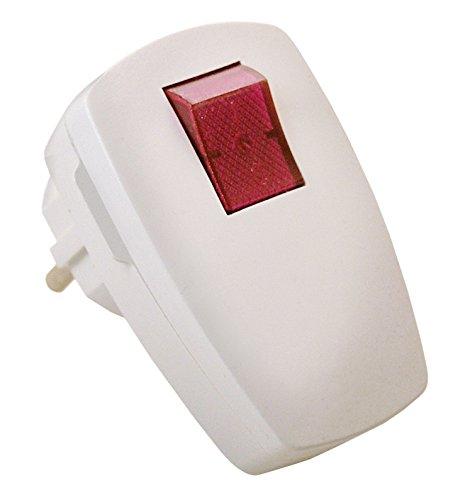 Mit Schalter Netzstecker (as - Schwabe Schutzkontakt Winkelstecker, 230 Volt / 16 A, mit beleuchtetem Schalter, weiß, 45034)