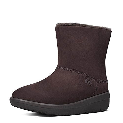 FitFlop Supercush Mukloaff Tm Shorty, Stivaletti Donna Brown (Chocolate)