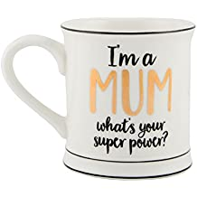 I'm a Mum, What's Your Superpower? Porcelain Mug | Gifts for Mums