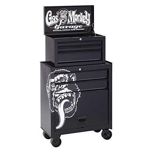 GAS Monkey Garage gmgbtc26X 5Kommode mit 5Schubladen Tool Center/Brust & Cabinet, 66cm breit, schwarz