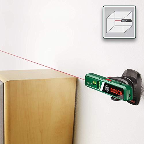 Bosch DIY Laser-Wasserwaage PLL 1 P, Batterien, Universalhalterung, Karton (Arbeitsbereich Linienlaser 5 m, Arbeitsbereich Punktlaser 20 m, +/- 0,5 mm Messgenauigkeit) - 4