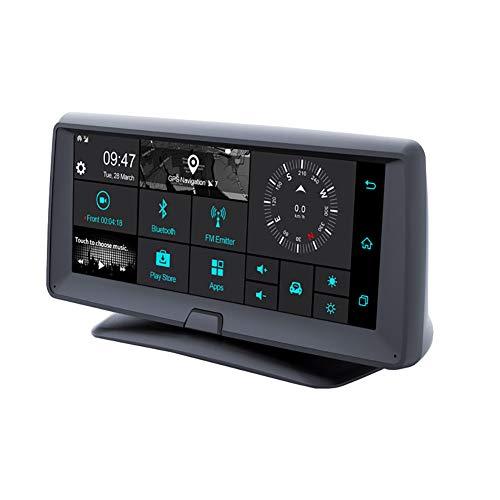 Dashcam Auto Dash Camera 1080P 6,86 Zoll HD GPS-Navigation Bluetooth FM vor und nach der Doppelaufzeichnung Fahren Recorder Zyklus Videobewegungserkennung Schwerkraft 120 ° Weitwinkel erfassen