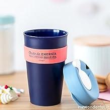 """Mr. Wonderful Taza reutilizable KeepCup """"Chute de energía para empezar bien el día"""", grande"""