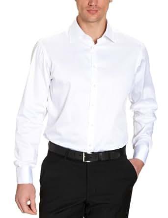 Jacques Britt Herren Hemd mit Manschetten Regular Fit 20.969312 Ben Uma, Gr. 38 (38/S), Weiß (1 - white)