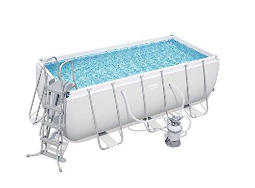 Bestway Power Steel Rectangular Pool Set 412x201x122cm  Stahlrahmenpool-Set mit Filterpumpe und Zubehör