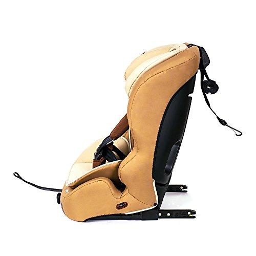 Kinderkraft Safetyfix Kinderautositz mit Isofix 9-36 kg Gruppe 1 2 3 Beige - 3