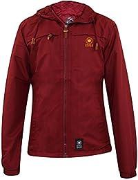 Crosshatch Mens Sports Windbreaker Hooded Zip up Jacket Coat