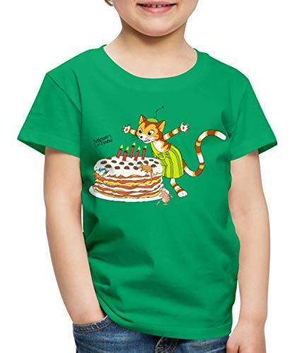 Pfannkuchen Kostüm - Spreadshirt Pettersson Und Findus Geburtstag Feiern Torte Kinder Premium T-Shirt, 134/140 (8 Jahre), Kelly Green