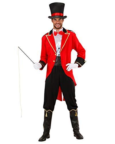 Dompteur Kostüm Löwen - 5-TLG. Dompteur Kostüm mit Zylinder - Tierbändiger Herren Kostüm L
