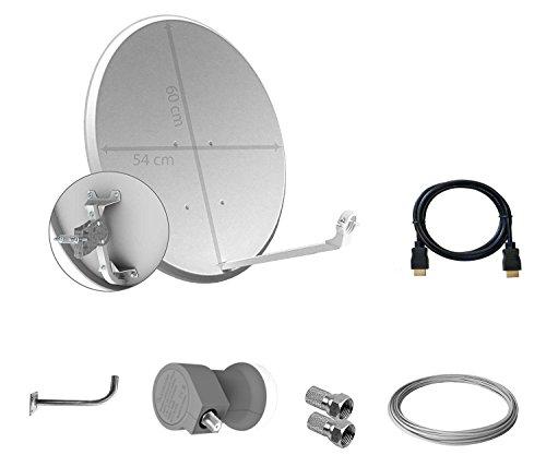 Tecatel K60C1LSCC - Kit parabólica 60 cm, soporte, LNB Universal, cable y conectores, color blanco