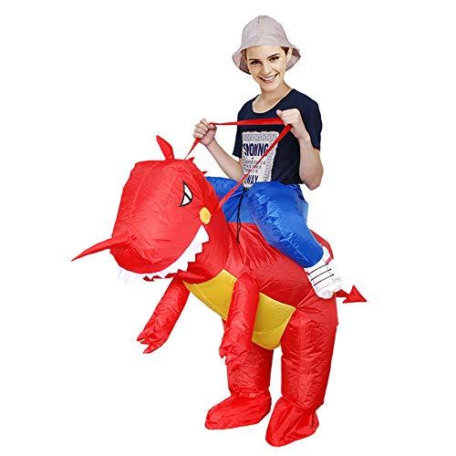 SHUFEI Caballo Inflable Y Traje De Traje De Fantasía De Vaquero Cowboy con Caballo Hinchable para Adultos Y Niños,L