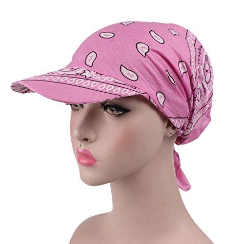 Là Vestmon Damen Visoren Hut Kopftuch Sonne Kappe Faltender Anti-UV Chemo Sommer Outdoor Sportarten Golf Cap (Rosa)