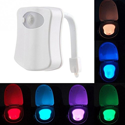 Balai 8colori korper Sensore di movimento sensore PIR Toilette notturna Helle movimento attivata LED proiettore