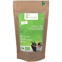 Tee-Geschwister BIO Detox Tee | loser Kräuter-Tee zur Begleitung einer Diät oder Entschlackungskur | ohne Zusatzstoffe & zuckerfrei | inkl. 14 Tage Detox Kur Guide | 100% natürlich | 85g
