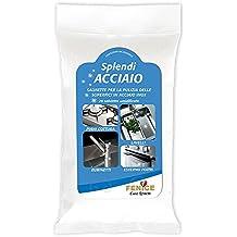 splendiacciaio® Toallitas Húmedas Para La Limpieza y Mantenimiento de superficies de acero, de unidades