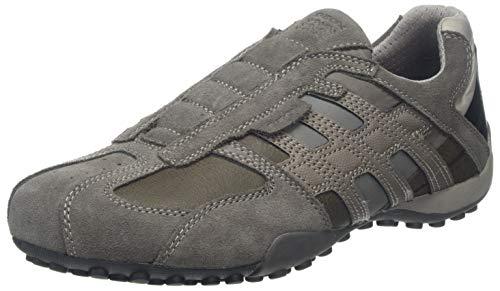 Geox Herren Uomo Snake F Sneaker, Grau (Stone/Rock C9m5y), 43 EU