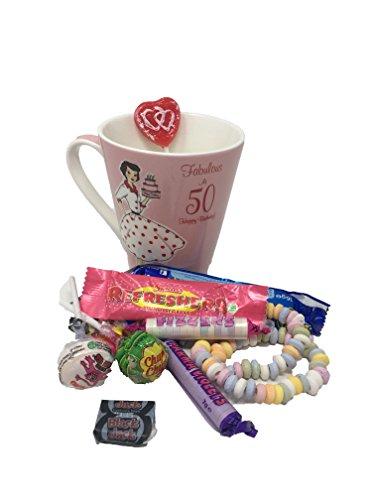 50th Birthday Mug and Sweets Gift Set in presentation box