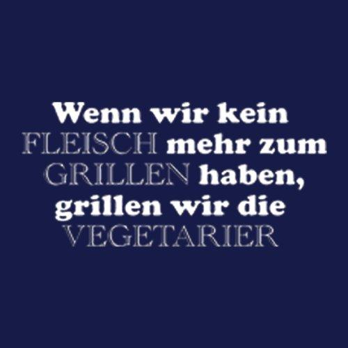 DAS Shirt für BBQ-Fans und Grillprofis: Wenn wir kein Fleisch mehr zum Grillen haben T-Shirt, Farbe navy, Navy-Blue