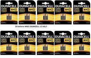 Duracell MN21Alkaline Batterie, 12V, 23A, 20Stück