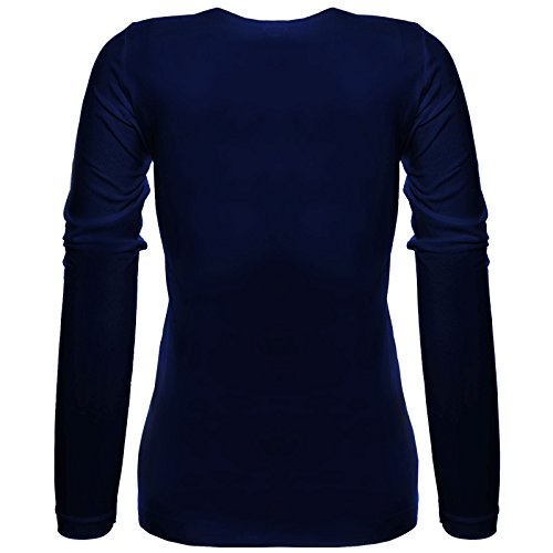 BEZLIT - T-shirt de sport - Tunique - Uni - Col Rond - Manches Longues - Femme Bleu
