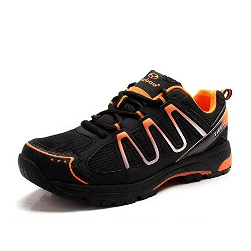 Chaussures Cyclisme VŽlo Bicycle Unisexe Chaussures Casual Loisirs Sport Sneakers noir-orange