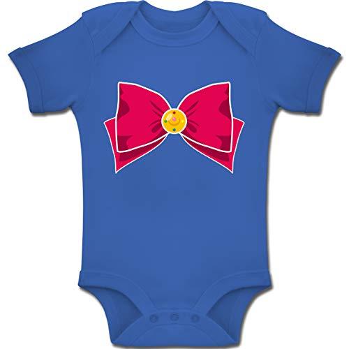 Shirtracer Karneval und Fasching Baby - Superheld Manga Moon Kostüm - 12-18 Monate - Royalblau - BZ10 - Baby Body Kurzarm Jungen Mädchen (Superheld Kostüm 12 18 Monate)