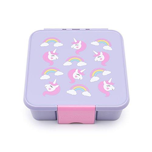 Little Lunch Box Co., Brotdose für Kinder mit Unterteilungen   Bento Box (Bento 5 - Einhorn)