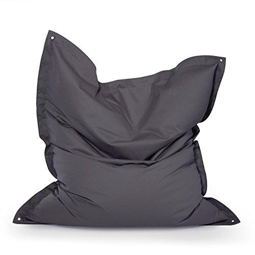 """Outdoor Sitzsack """"Meadow Plus"""" wetterfest frostsicher Gartenstuhl Gartensessel Gartenliege für draußen Outdoor Lounge Gartenmöbel moderner Look bunt groß (Anthrazit)"""