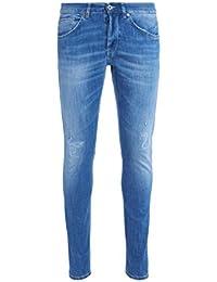 Vaqueros Don Dup George lavado azul claro con roturas