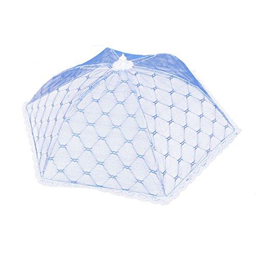 Preisvergleich Produktbild Haushalt Küche Metallrahmen Nylon Regenschirmform Faltbar Lebensmittel-Abdeckung