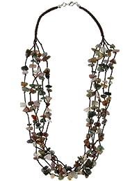Bracelet - Boucle d'oreille - Pendentif - Bracelet de cheville avec pierres naturel de India-Agate