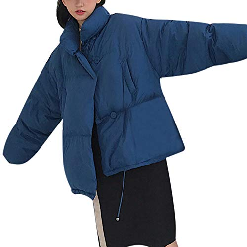 Preisvergleich Produktbild TianWlio Jacken Parka Mäntel Herbst Winter Warme Jacken Strickjacken Damen Mit Kapuze Outwear Warmer Mantel Langer Dicker Leichter Parka Mantel aus Baumwolle Blau L