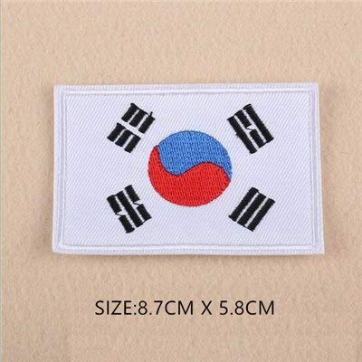 Shoppy Star 1 PC billig Stoff Patch World Land China USA Russland Farbe Flagge Patch Aufnäher Kleidung Armband Rucksack Aufkleber DIY Zubehör Südkorea -