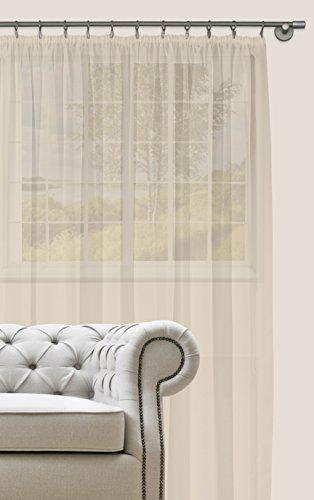 Splendid collezione diana - tenda con nastro, 300 x 280 cm, colore bianco seta