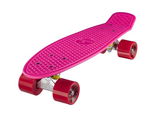 Ridge Retro Skateboard Mini Cruiser, rosa/rot, 22 Zoll