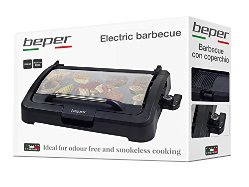Beper Electric Barbecue with Removable Glass Lid