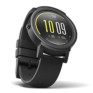 Ticwatch E Shadow, el reloj inteligente más cómodo, pantalla OLED de 1,4 pulgadas, Android Wear 2.0, compatible con iOS 9.0+ Apple iPhone y Android 4.3+Samsung,Huawei,bq,LG,Asus, Xiaomi, Sony Ericsson,Motorola,ZTE y otros teléfonos celulares, Soporte Español